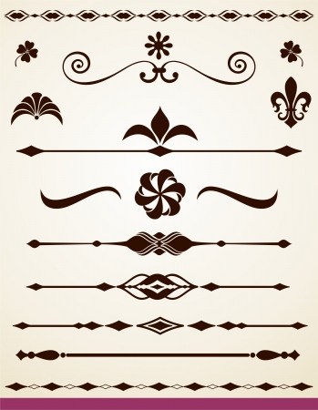 Text and page dividers and decorations Illustration