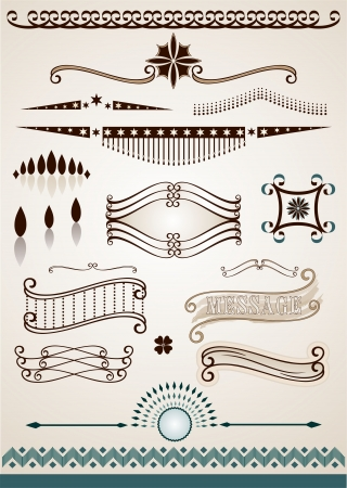 Text dividers and decorations Vector