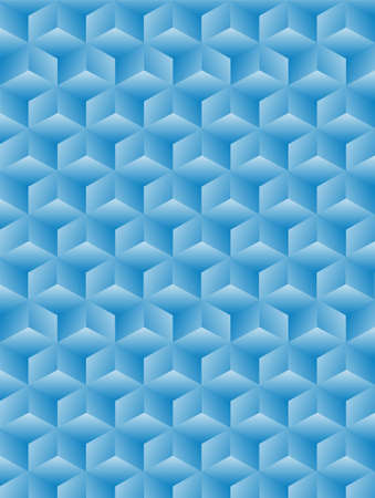 Geometric background with blue cubes