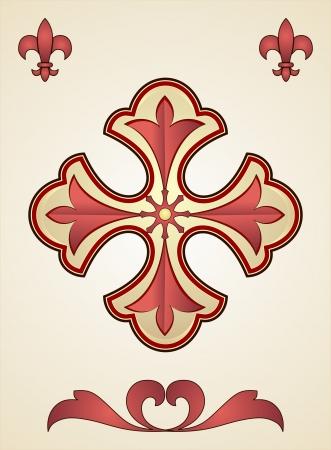 Stylized Elegant Christian Cross Stock Vector - 24766779