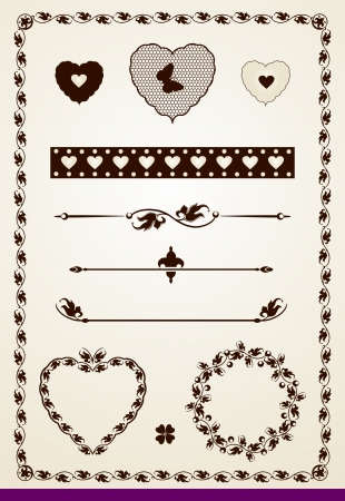 Borders, dividers and decorations with leaves Illustration