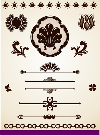 Ornamental page decorations and dividers Vector