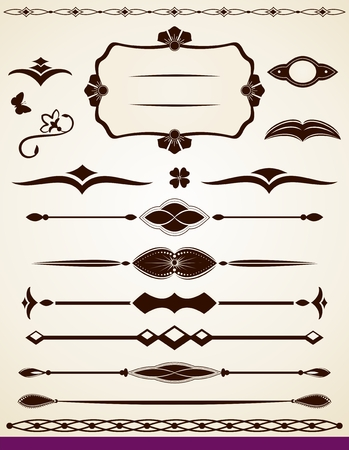 Text decorations and dividers Vector