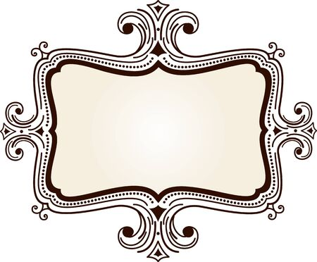 Retro frame Illustration