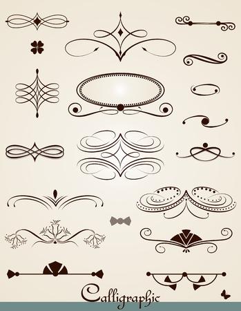 separator: Calligraphic  decorations, design elements and dividers