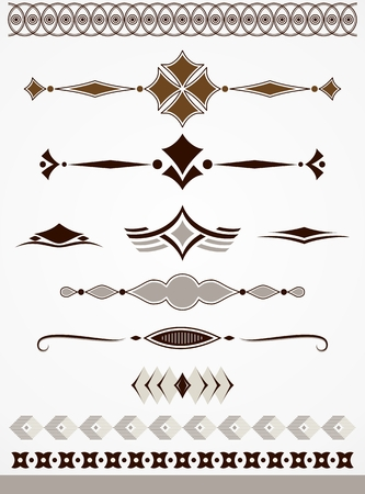 Text dividers, borders and decorations
