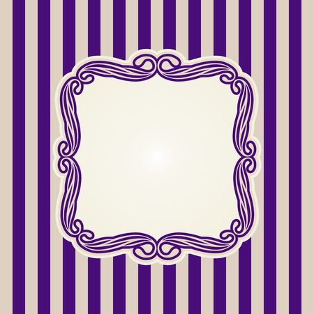 Vintage frame on background Illustration