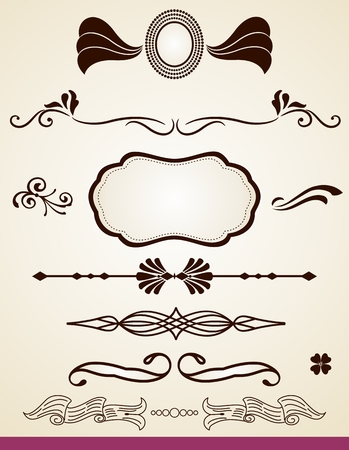 Page dividers and decorations Vector