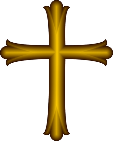 Golden Christian Cross