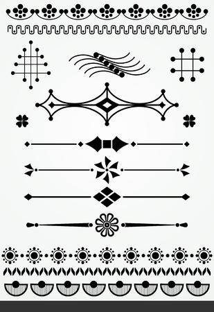 Geometric design elements Illustration