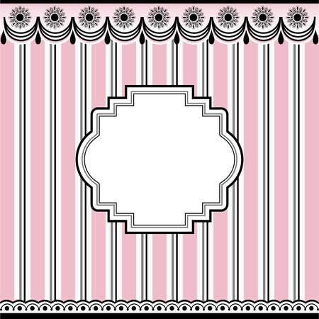 Empty frame on pink background Illustration