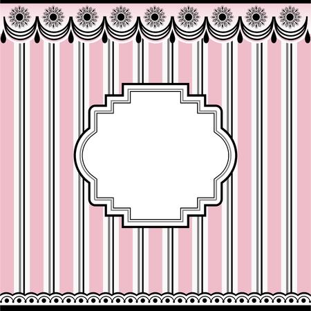 Empty frame on pink background Illustration
