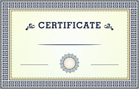 floral border: Certificate border Illustration