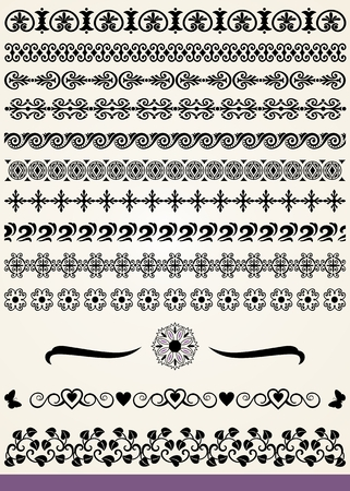 Collection of border and dividers design elements Vector