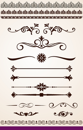dividers: Dividers, borders and decorations