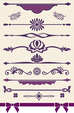 Page or text vintage dividers and decorations