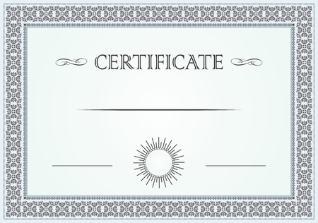 Certificate floral border and template