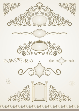 Text or page decorations and dividers Illustration