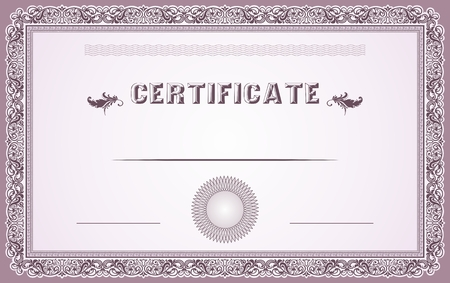Certificate border and template design Illustration