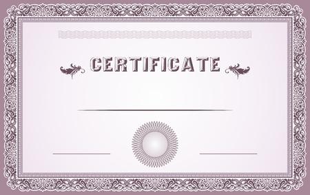 Certificate border and template design Illustration
