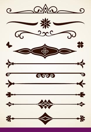 区切り記号および装飾  イラスト・ベクター素材