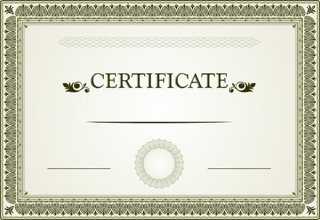 Certificaat grenzen en template
