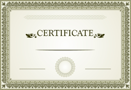 Certificate borders and template