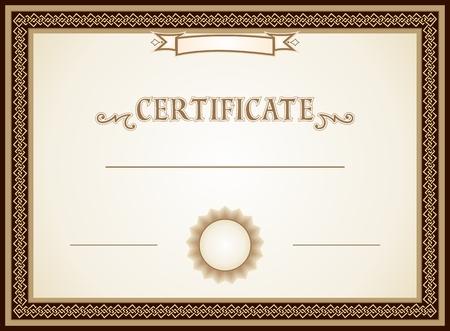 证书边框,装饰和模板