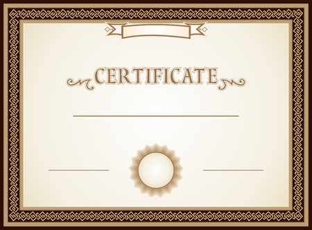 Certificate border, decorations and template