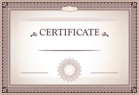 bordure de page: Certificat de frontières de réalisation et modèle Illustration