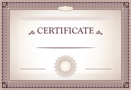 Certificate of achievement borders and template Illustration