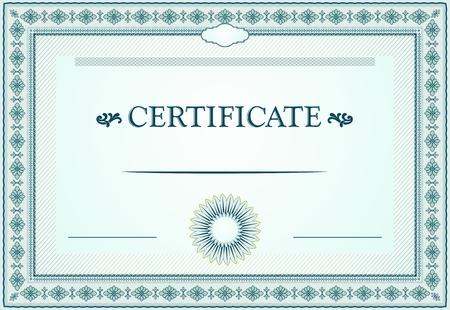 bordure de page: frontières de certificat, modèle et éléments de conception Illustration