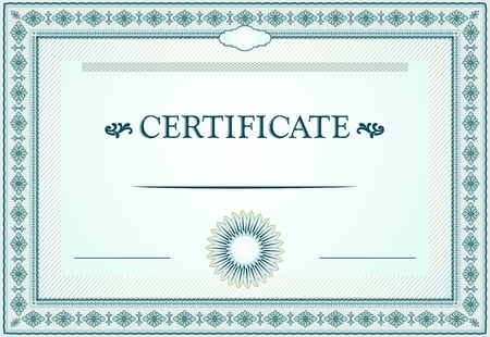 Certificate borders, template and design elements Illustration