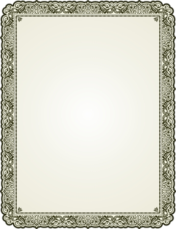 Vintage floral bordered frame for text or picture