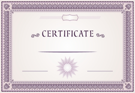 Certificate of achievement design and template Illusztráció