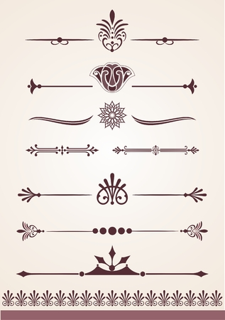 Page and text dividers and decorative design elements
