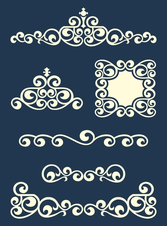 frame vector: Swirl text or page dividers and decorations