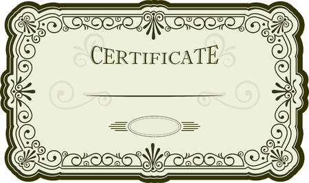 Certificate or diploma design