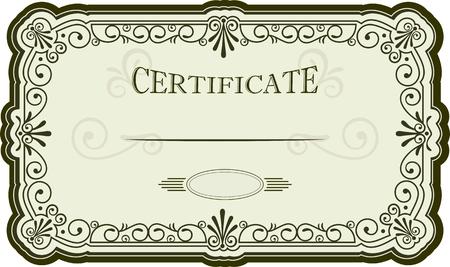 Certificate or diploma design