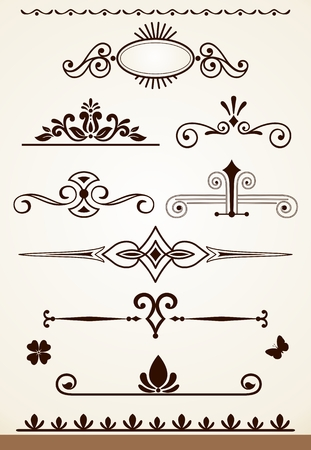 dividers: Dividers and decorations design Illustration