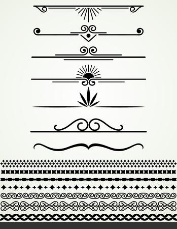 frontières et diviseurs en noir et blanc