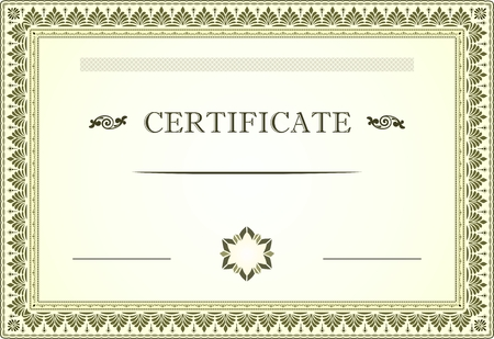 Certificate border and template Illustration