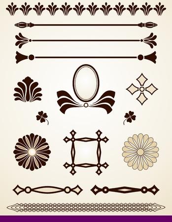 Éléments de design, diviseurs et décorations Vecteurs