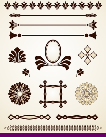 Design elements, dividers and decorations
