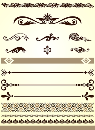 Dividers, borders and design elements