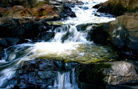 長時間露光の滝 写真素材