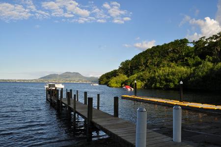 newzealand: Jetty on Acacia Bay, North Island New Zealand