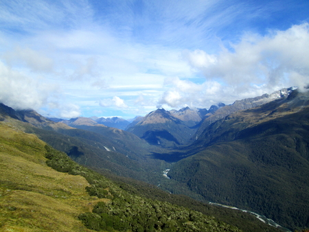 Views on the Routeburn Track in New Zealand Stock Photo