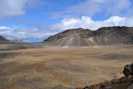 Landscape of the Tongariro Alpine Crossing in New Zealand