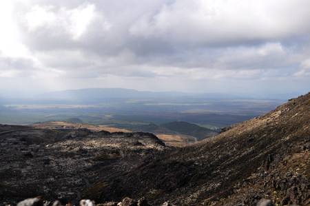 Views of the rock formations on Mount Ngauruhoe